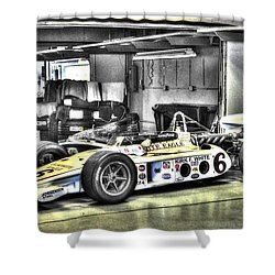 Bobby Unser 1972 Olsonite Eagle Pole Position Car  Shower Curtain