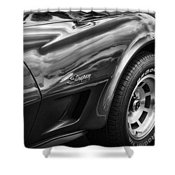 1973 Chevrolet Corvette Stingray Shower Curtain