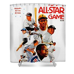 1974 Baseball All Star Game Program Shower Curtain