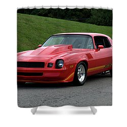 1974 Camaro Z28 Shower Curtain by Tim McCullough