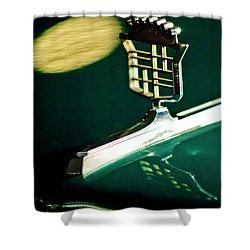 1976 Cadillac Fleetwood Hood Ornament Shower Curtain by Jill Reger