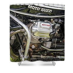 Shower Curtain featuring the photograph 1976 Moto Guzzi V1000 Convert by Roger Mullenhour