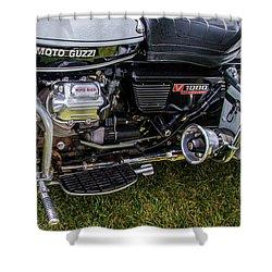 1976 Motto Guzzi V1000 Convert Shower Curtain by Roger Mullenhour