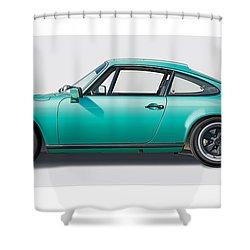 1976 Porsche Euro Carrera 2.7 Illustration Shower Curtain by Alain Jamar