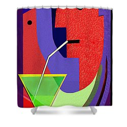 Shower Curtain featuring the digital art 1979 - Party Pop 2017 by Irmgard Schoendorf Welch
