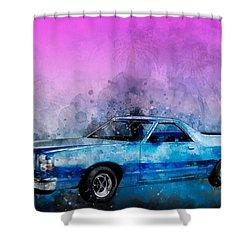 1979 Ranchero Watercolour Of The Last Sport Pickup Truck Shower Curtain