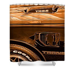 1980 Pontiac Trans Am Shower Curtain by Gordon Dean II