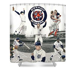 1984 Detroit Tigers Shower Curtain