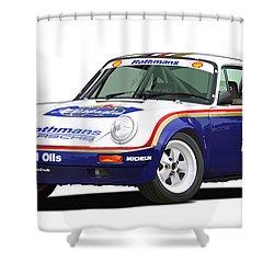 1984 Porsche 911 Sc Rs Illustration Shower Curtain by Alain Jamar