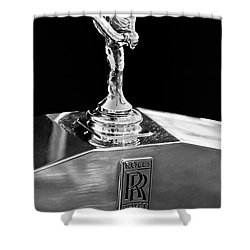 1986 Rolls-royce Hood Ornament 2 Shower Curtain by Jill Reger
