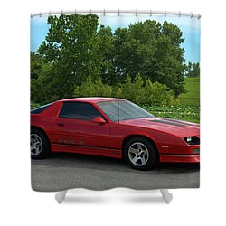 1989 Camaro Iroc Shower Curtain by Tim McCullough