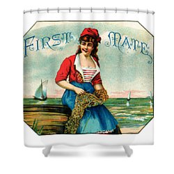 19th C. First Mate Cigars Shower Curtain