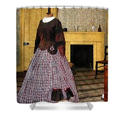 19th Century Plaid Dress Shower Curtain by Susan Savad