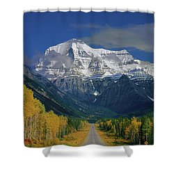1m2441-h Mt. Robson And Yellowhead Highway H Shower Curtain