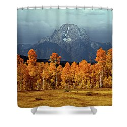 1m9235 Mt. Moran In Autumn Shower Curtain