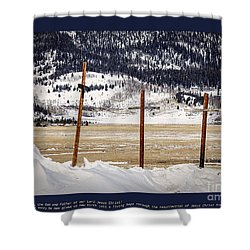 1st Peter Shower Curtain by Janice Rae Pariza