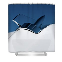 1957 Chevy Belair Hood Rocket Shower Curtain