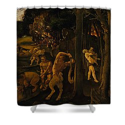 A Hunting Scene Shower Curtain