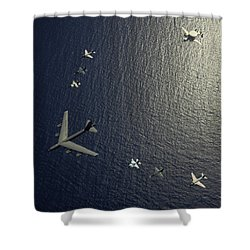 A U.s. Air Force B-52 Stratofortress Shower Curtain by Stocktrek Images
