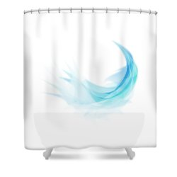 Shower Curtain featuring the painting Abstract Feather by Setsiri Silapasuwanchai