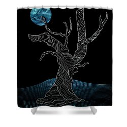 Abstract Gnarly Tree Shower Curtain