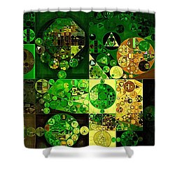 Shower Curtain featuring the digital art Abstract Painting - Dell by Vitaliy Gladkiy