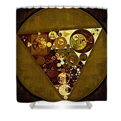 Abstract Painting - Golden Sand Shower Curtain