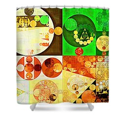 Abstract Painting - Kelly Green Shower Curtain