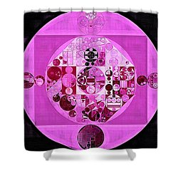 Shower Curtain featuring the digital art Abstract Painting - Lavender Magenta by Vitaliy Gladkiy