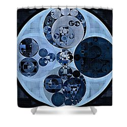 Shower Curtain featuring the digital art Abstract Painting - Polo Blue by Vitaliy Gladkiy