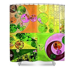 Shower Curtain featuring the digital art Abstract Painting - Turtle Green by Vitaliy Gladkiy