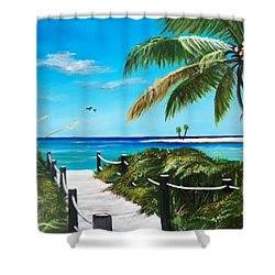 Access To The Beach Shower Curtain