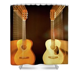 Acoustic Overtone Shower Curtain by Leland D Howard