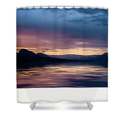 Shower Curtain featuring the photograph Across The Clouds I See My Shadow Fly by John Poon