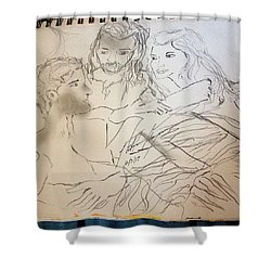 Adam Andeve The Creation Story Shower Curtain