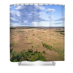 aerial view of Nebraska Sandhills  Shower Curtain