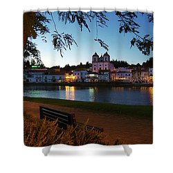 Shower Curtain featuring the photograph Alcacer Do Sal by Carlos Caetano