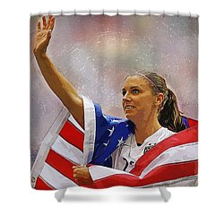 Alex Morgan Shower Curtain by Semih Yurdabak