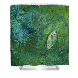 Algae Bloom Shower Curtain