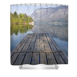 Alpine Clarity Shower Curtain by Ian Middleton