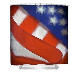 American Flag Shower Curtain by George Robinson