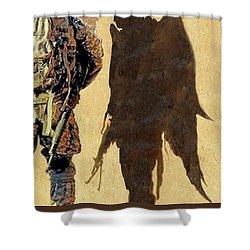 Angel Waiting Shower Curtain by Todd Krasovetz
