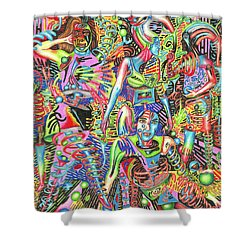 Animated Perspective Of Nocturnal Wandering Shower Curtain