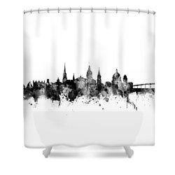 Shower Curtain featuring the digital art Annapolis Maryland Skyline by Michael Tompsett