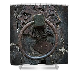 Shower Curtain featuring the photograph Antique Door Knocker by Elena Elisseeva