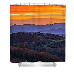Shower Curtain featuring the photograph Appalachian Sunrise by Serge Skiba