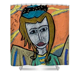 Archangel Uriel Shower Curtain by Clarity Artists