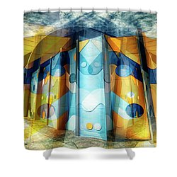 Shower Curtain featuring the photograph Architectural Abstract by Wayne Sherriff