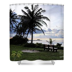 Asan Beach Guam Shower Curtain