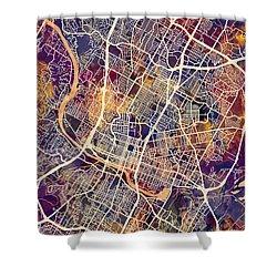 Austin Texas City Map Shower Curtain